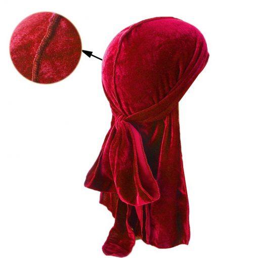 Durag Velours Rouge Homme Femme Fille