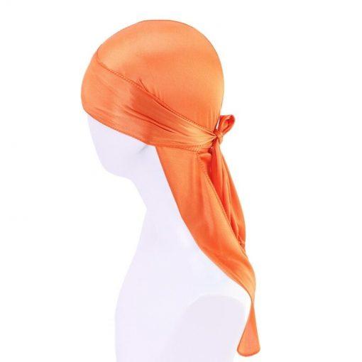 Durag homme Femme Fille Satin Orange